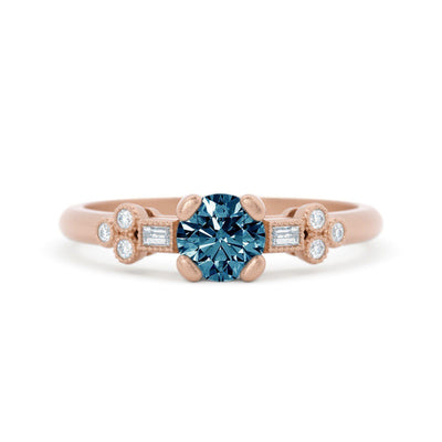 Norah Mae Delicate Montana Sapphire Ring Rose Gold