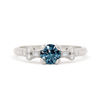 Norah Mae Delicate Montana Sapphire Ring White Gold