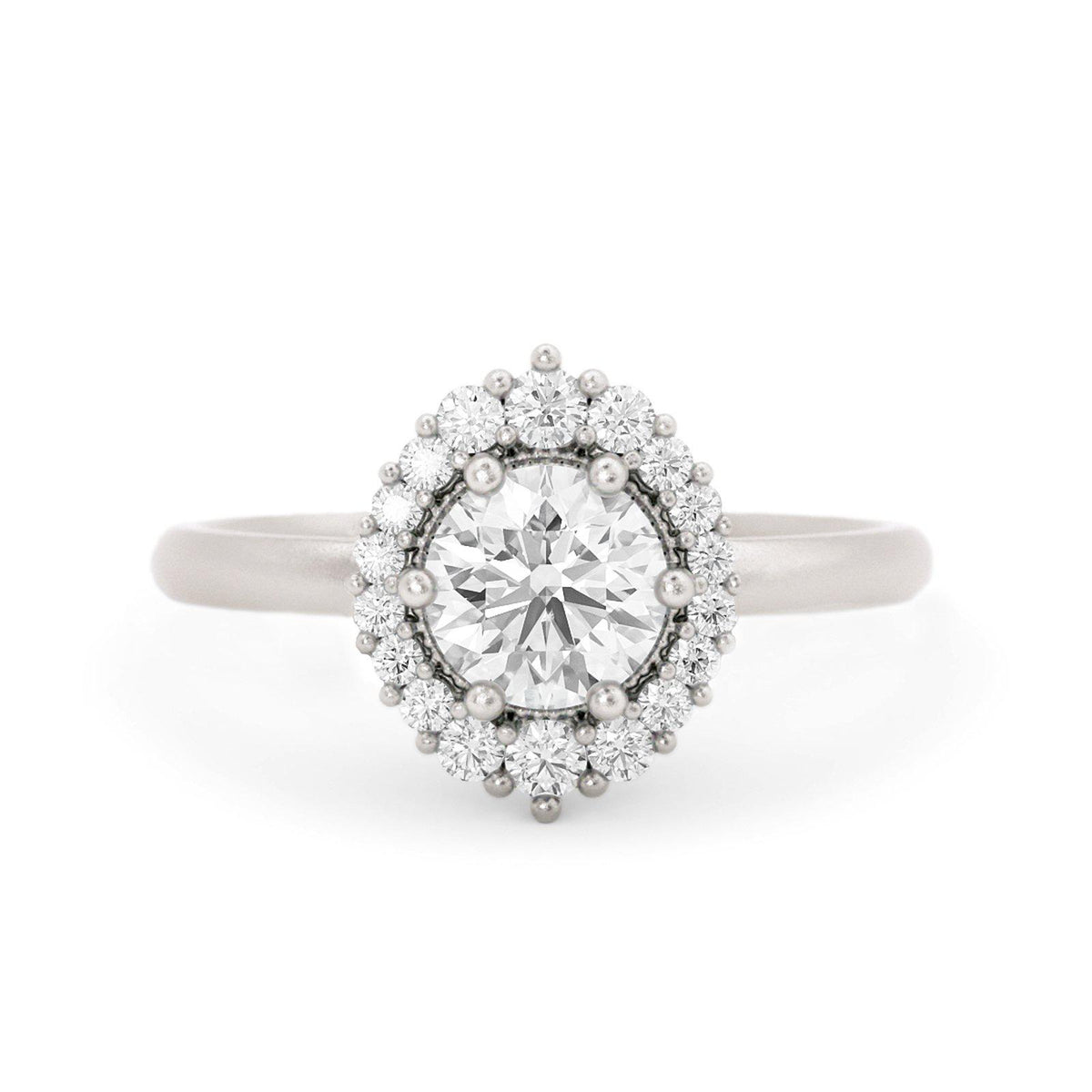 Orla Diamond Halo Engagement Ring White Gold