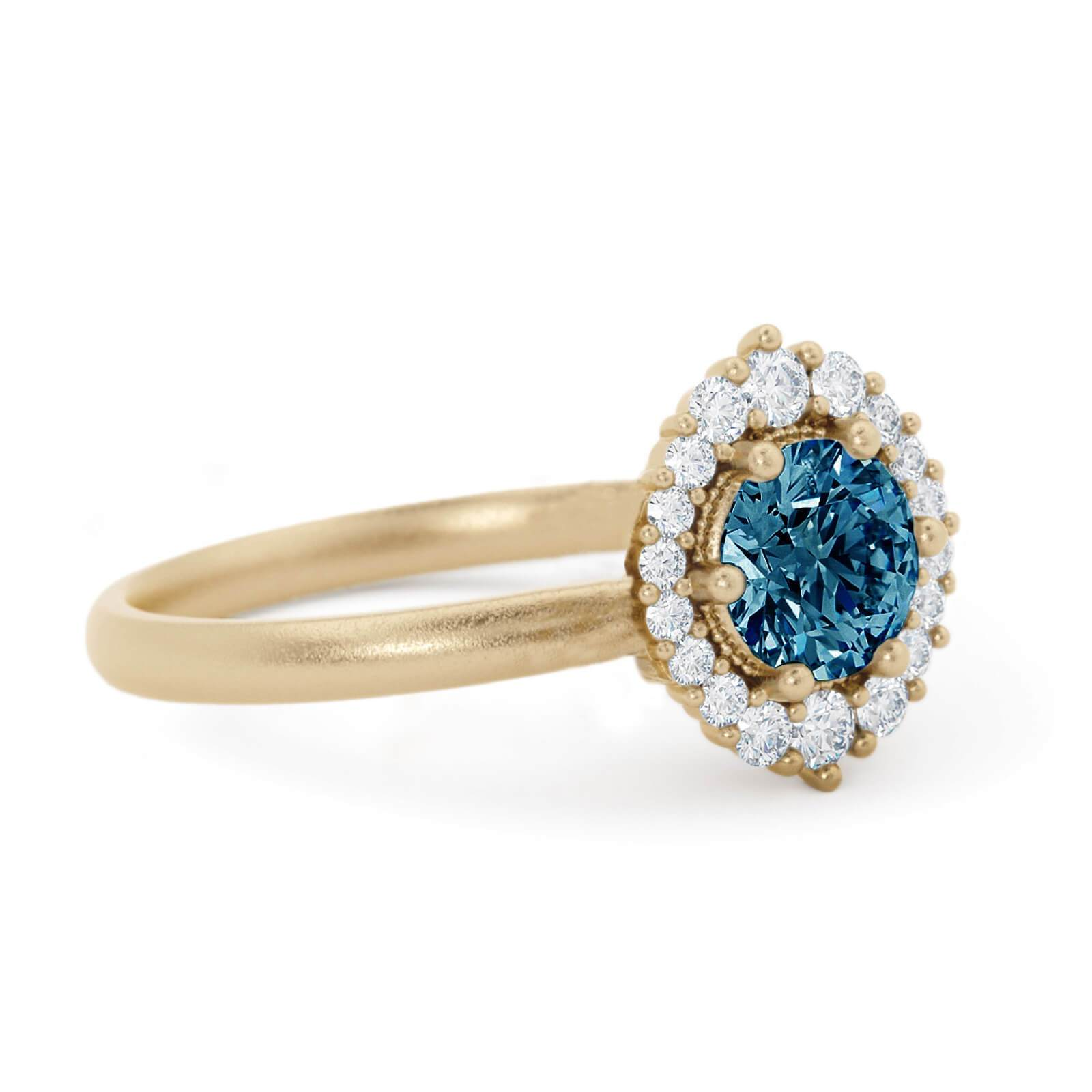 Orla Montana Sapphire Engagement Ring Yellow Gold