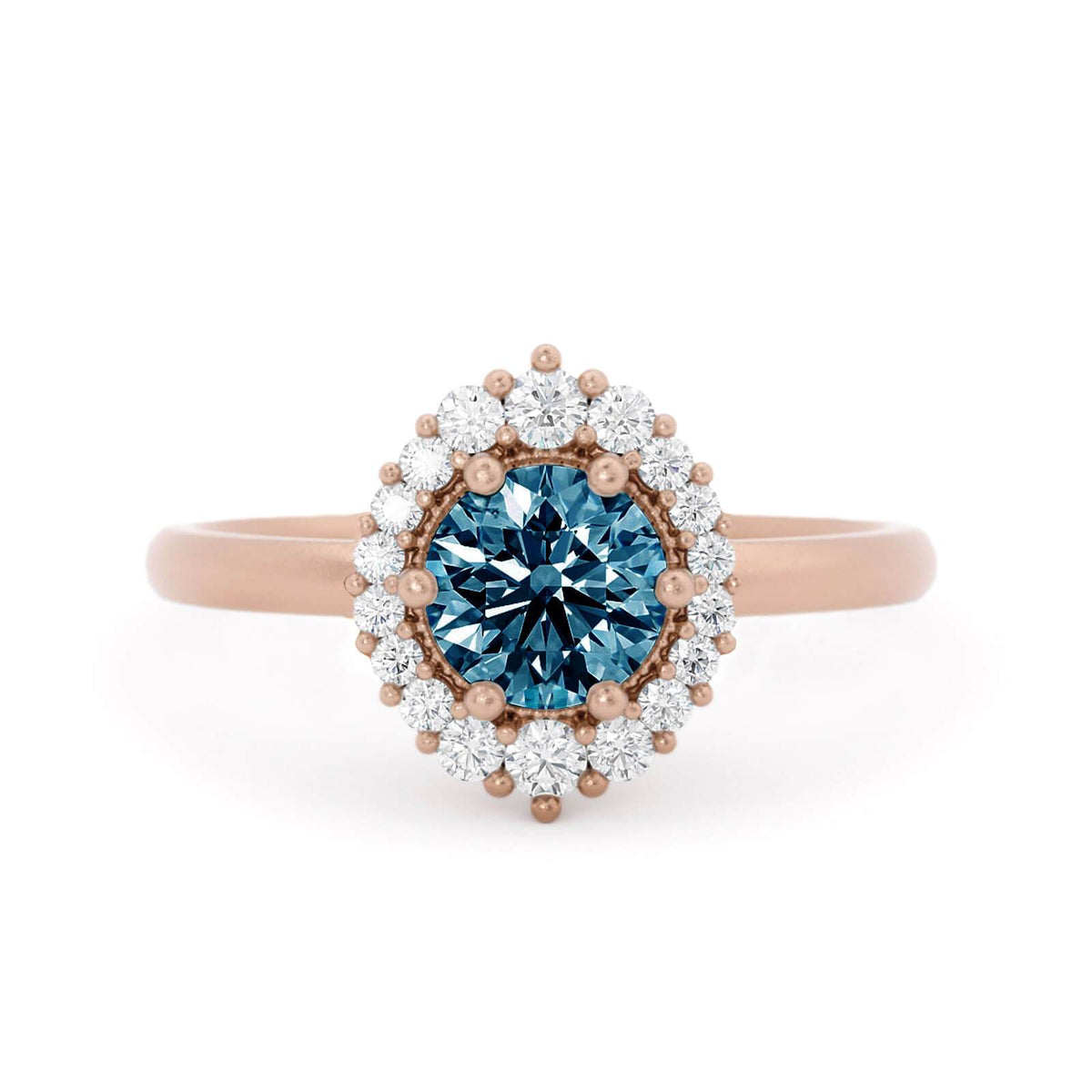 Orla Montana Sapphire Engagement Ring Rose Gold