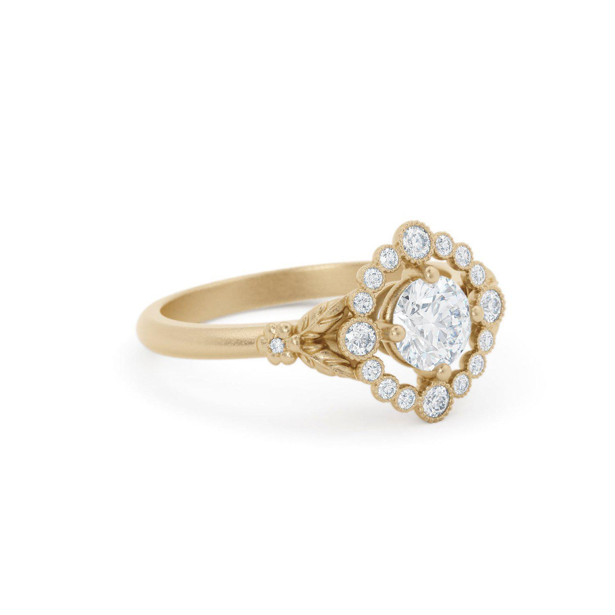 Scarlett Vintage Inspired Halo Engagement Ring