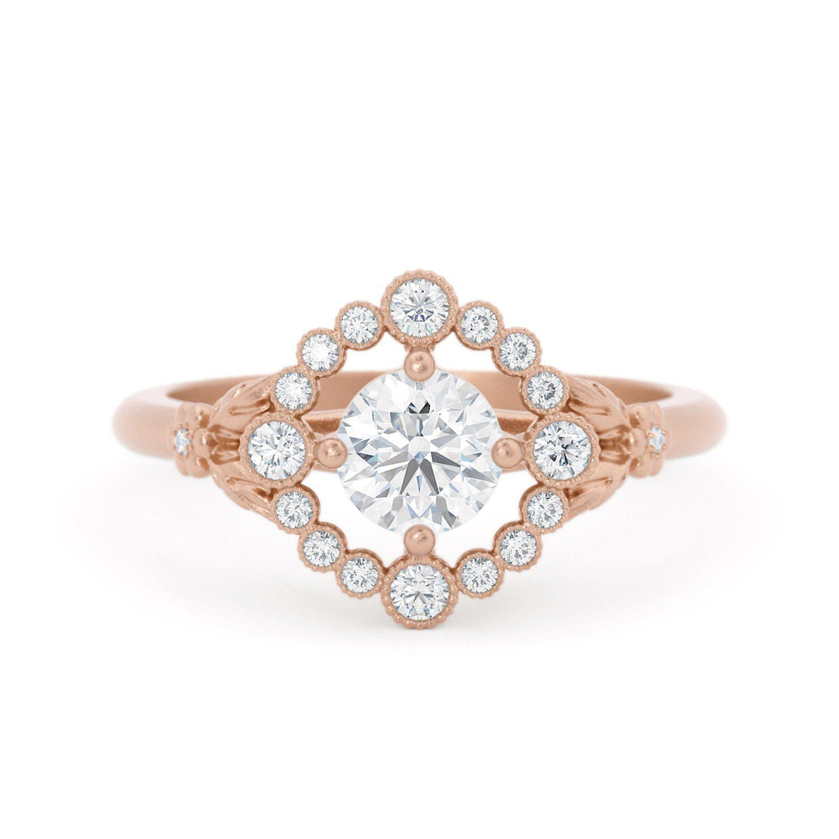 Scarlett Vintage Inspired Engagement Ring Rose Gold