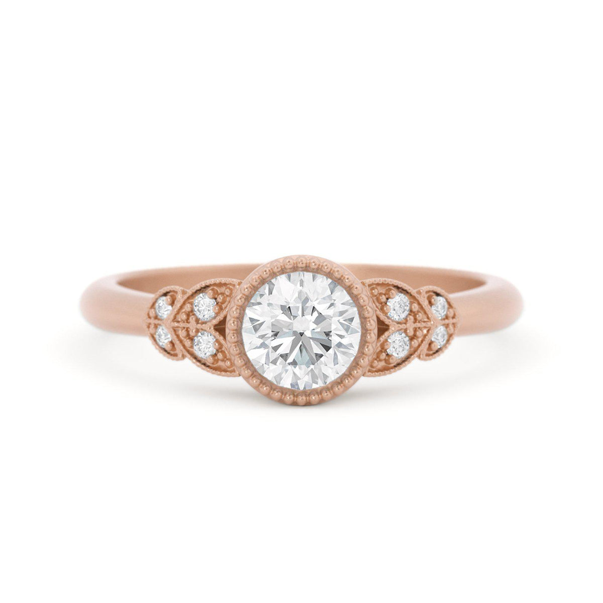 Viola Nature Inspired Engagement Ring Rose Gold
