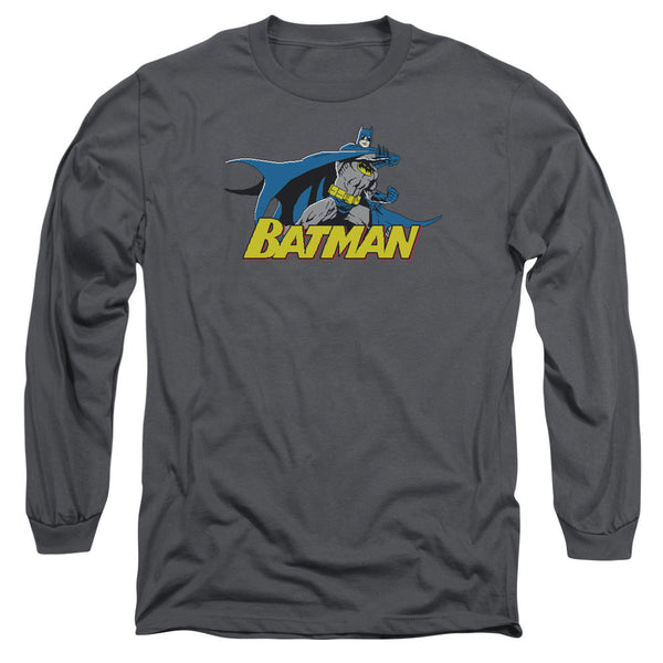 Batman: 8 Bit Cape Long Sleeve T-Shirt - NerdArmor.com
