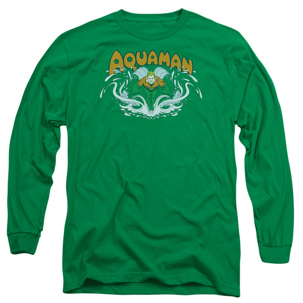 Aquaman: Aquaman Splash Long Sleeve T-Shirt - NerdArmor.com