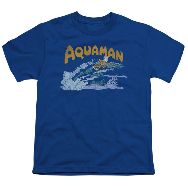 Aquaman: Aqua Swim Youth T-Shirt - NerdArmor.com