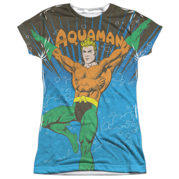 Aquaman: Underwater Sub Sublimated Junior T-Shirt - NerdArmor.com - 1