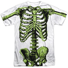 Zombies: 8 Bit Skeleton Sublimated T-Shirt - NerdArmor.com - 1