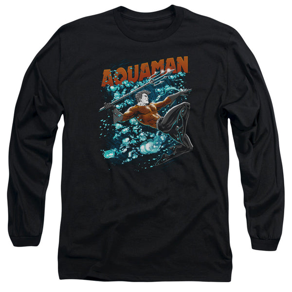 Aquaman: Aqua Bubbles Long Sleeve T-Shirt - NerdArmor.com