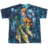 Aquaman: Trident Sublimated Youth T-Shirt - NerdArmor.com - 2