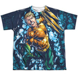 Aquaman: Trident Sublimated Youth T-Shirt - NerdArmor.com - 1
