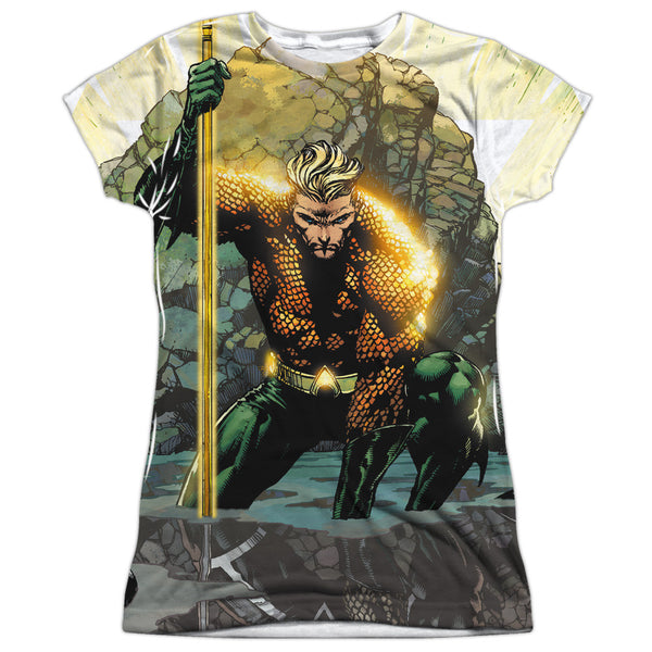 Aquaman: Good vs Evil Sublimated Junior T-Shirt - NerdArmor.com - 1