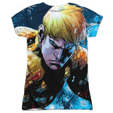 Aquaman: Bubbles Everywhere Sublimated Junior T-Shirt - NerdArmor.com - 2