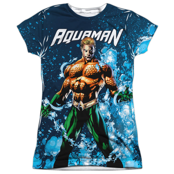 Aquaman: Bubbles Everywhere Sublimated Junior T-Shirt - NerdArmor.com - 1