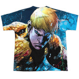 Aquaman: Bubbles Everywhere Sublimated Youth T-Shirt - NerdArmor.com - 2