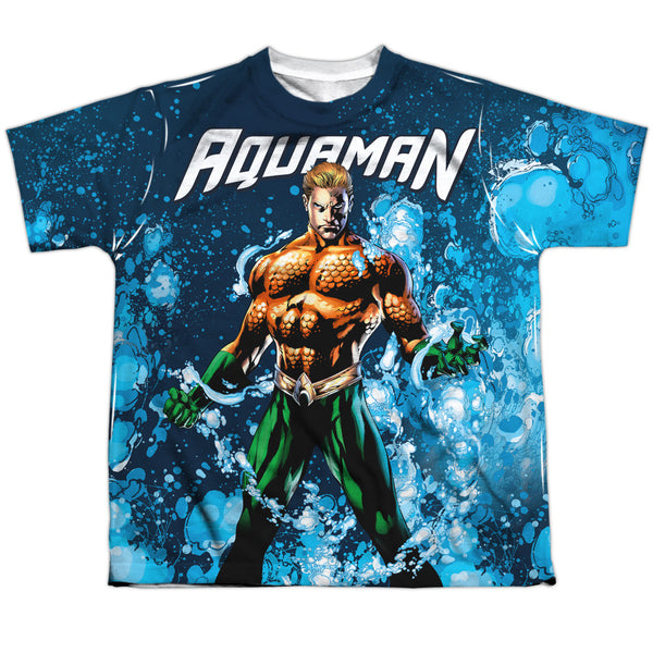 Aquaman: Bubbles Everywhere Sublimated Youth T-Shirt - NerdArmor.com - 1