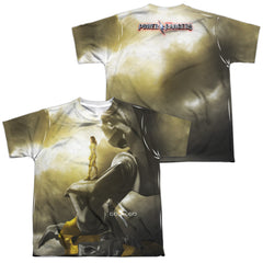 Power Rangers: Yellow Zord Poster (front/back Print) Sublimated Youth T-Shirt - NerdArmor.com