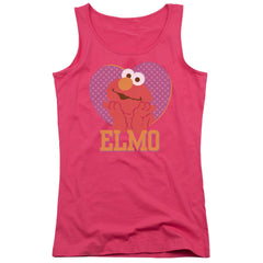 Sesame Street: Patterned Elmo Heart Junior Tank Top - NerdArmor.com