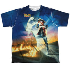Back To The Future: Movie Poster Sublimated Youth T-Shirt - NerdArmor.com - 1