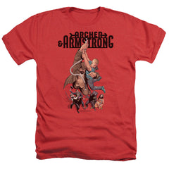 Archer & Armstrong: Hang In There Heather T-Shirt - NerdArmor.com