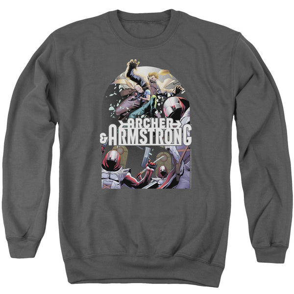 Archer & Armstrong: Dropping In Crewneck Sweatshirt - NerdArmor.com