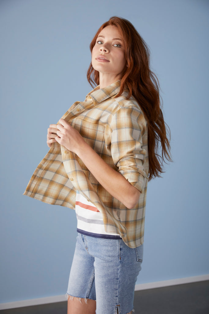 Cropped Lodge Shirt