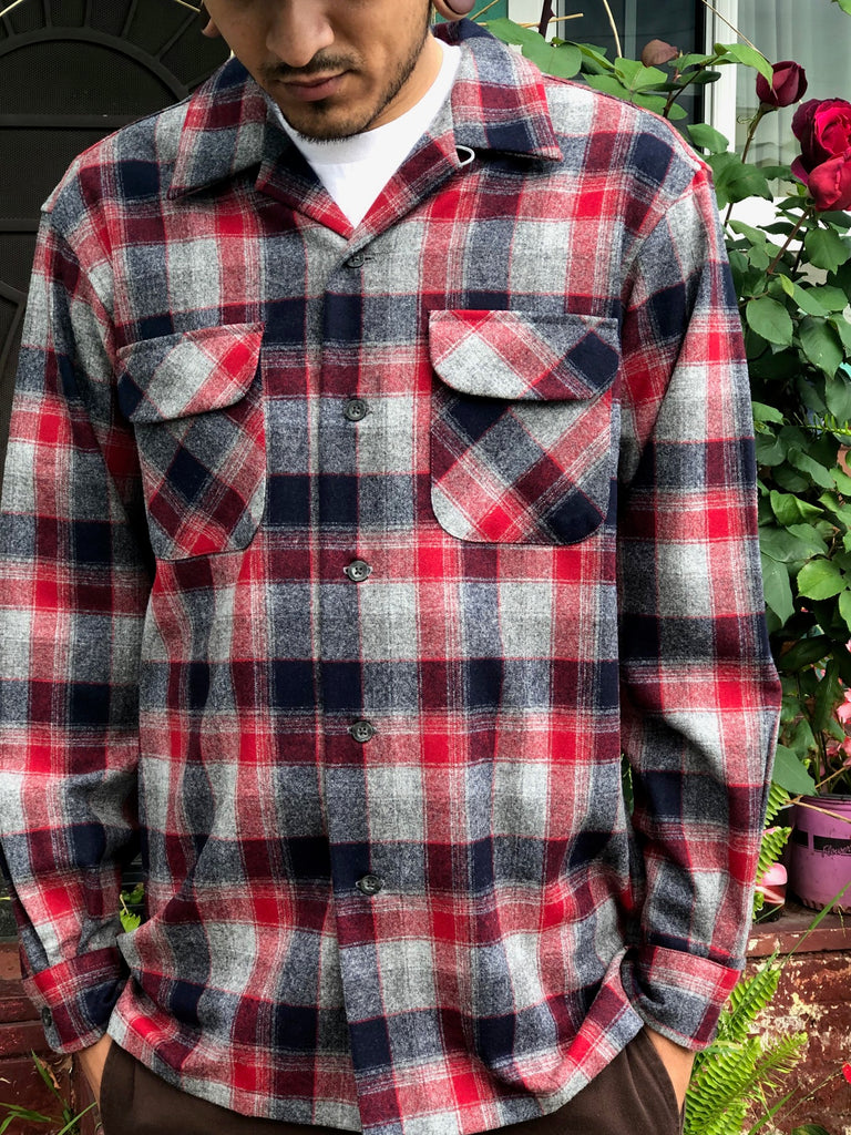 Red/Grey/Navy Plaid - 32316