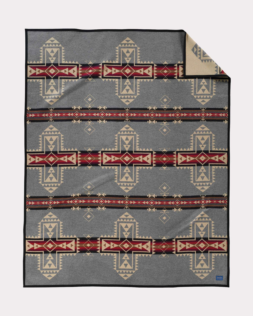 Native American Inspired Jacquard Blankets - Robe Size unnapped