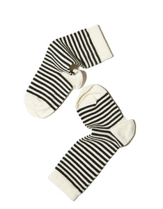 STRIPED SOCKS WHITE TOE