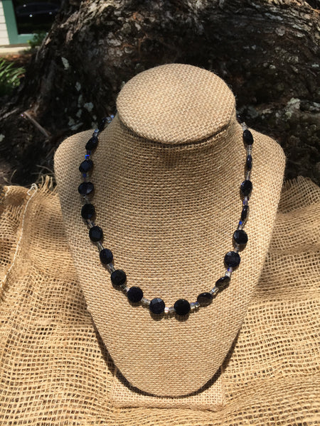 Blue Goldstone Jewelry Set