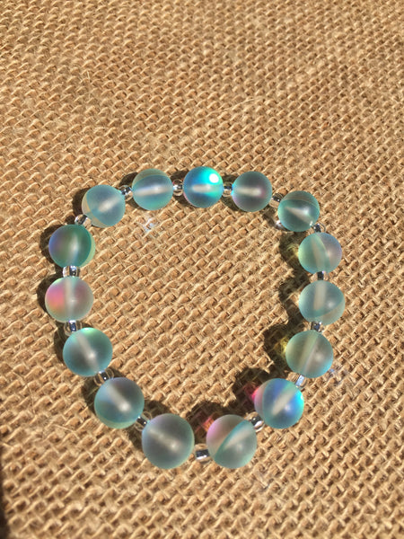 Frosted Blue Moonstone Bracelet