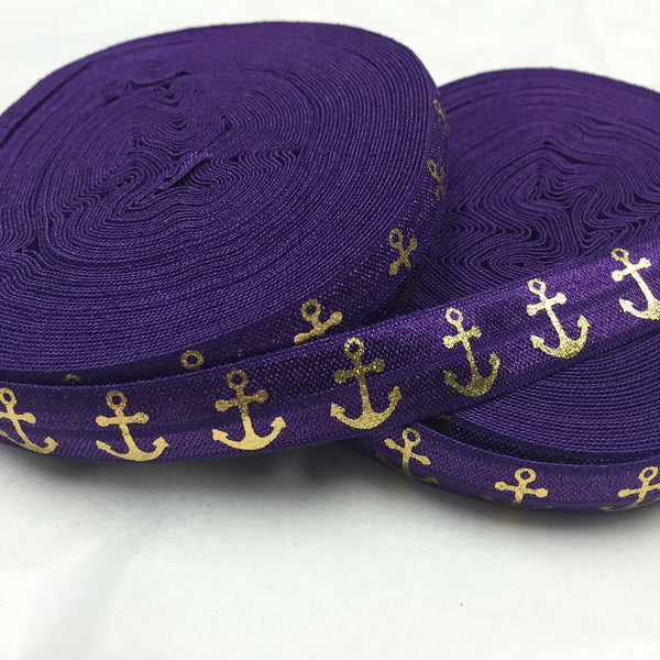 Purple and Gold Hair Ties