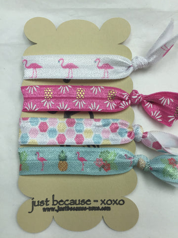 Cute Hair Ties - Flamingos, Pineapples, Polka Dots