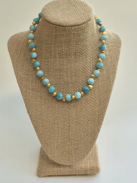 Blue Skies and Sunshine Necklace