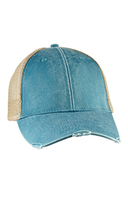 Distressed Teal/Tan Trucker Hat