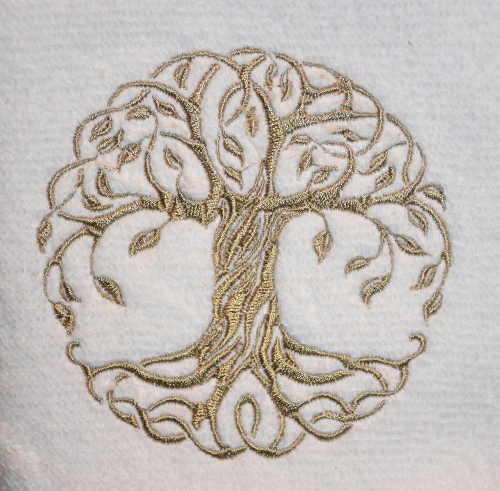 Wedding Gift Tree Towel Celtic Towel Embroidered Towel