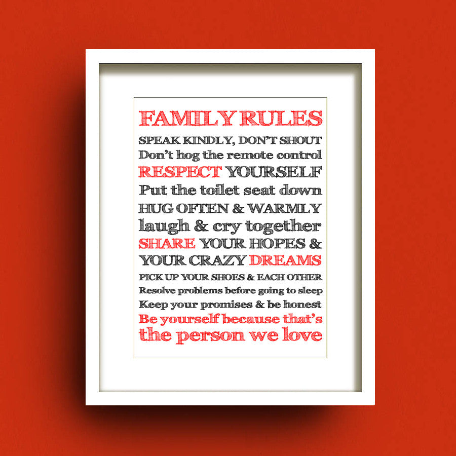 Family Rules by Francis Leavey