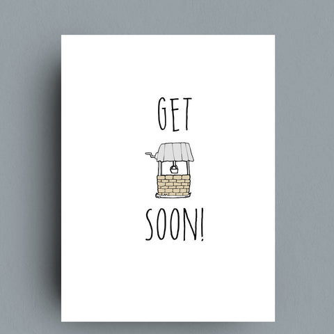 Get Well Greeting Card by Francis Leavey