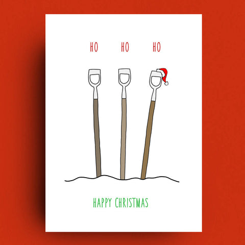 Ho Ho Ho Christmas Card by Francis Leavey