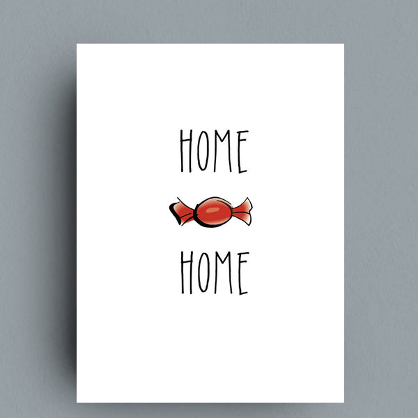 Home Sweet Home Greeting Card by Francis Leavey