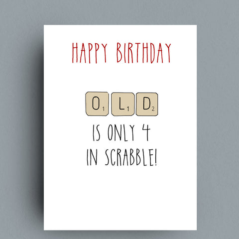 Scrabble Birthday Card by Francis Leavey