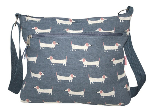 Sausage Dog Cross Body Messenger Bag