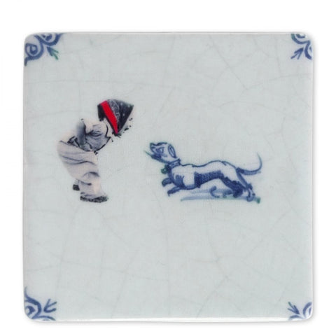Mini Storytile - Girl with Dog
