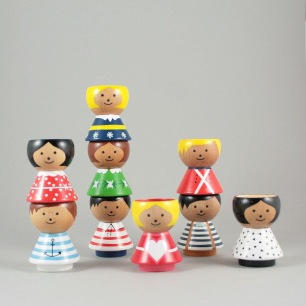 Bordfolk Girl Egg Cups