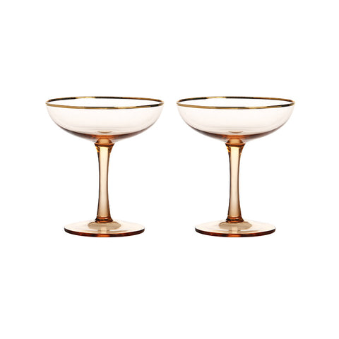 Pair of Champagne Coupe