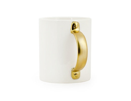 Gold Handled Mug