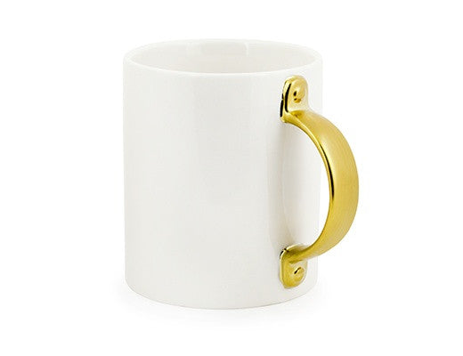 Large Gold Handled Mug
