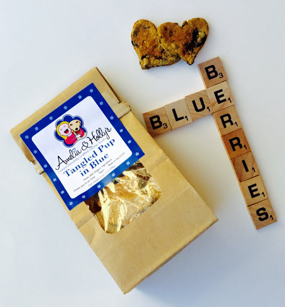 Amelia and Holly's Tangled Pup in Blue Dog Treats - Kanine Capital Online Farmer's Market for Dogs
