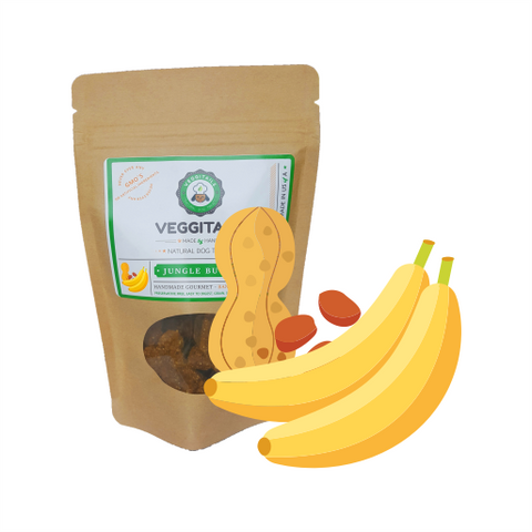 Veggitails Jungle butter Soft Treats- Peanut Butter Banana Dog Treats - Kanine Capital Online Farmer's Market for Dogs